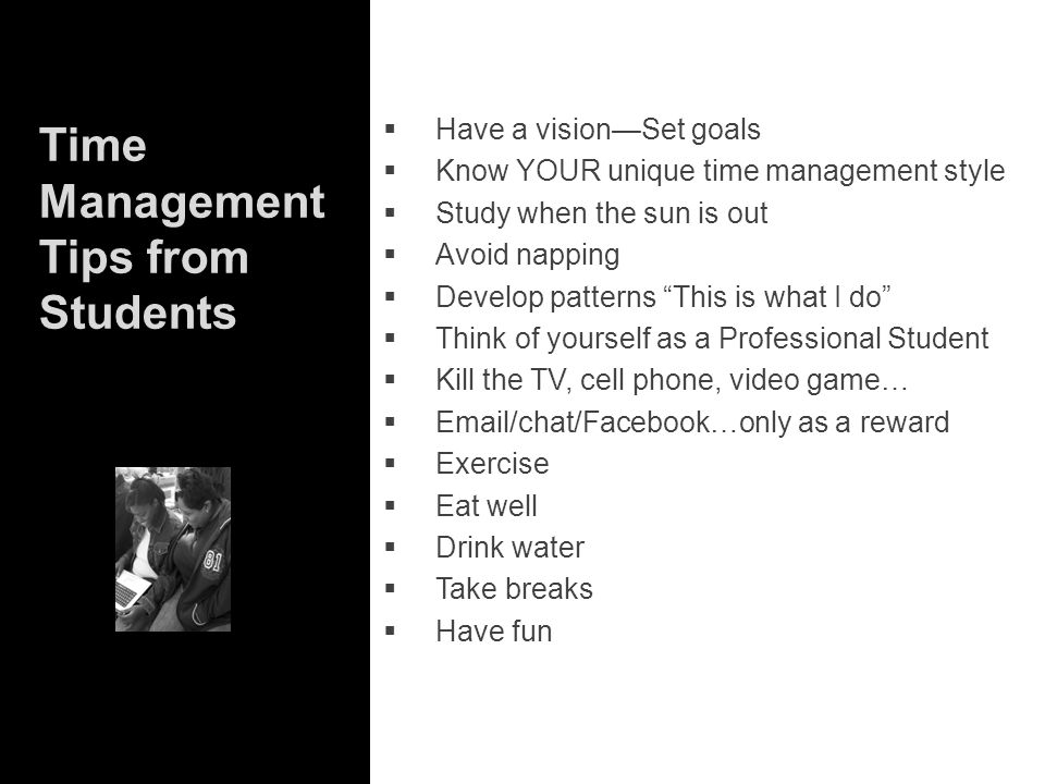 Time Management Tips from Students