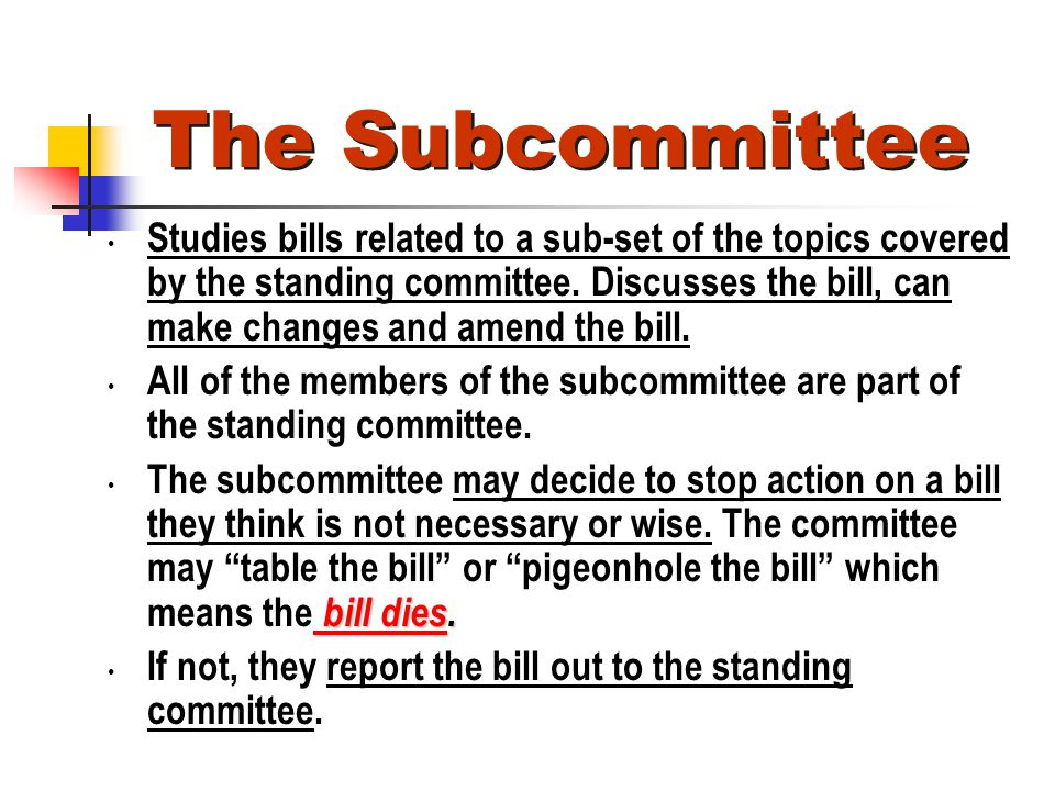 The Subcommittee