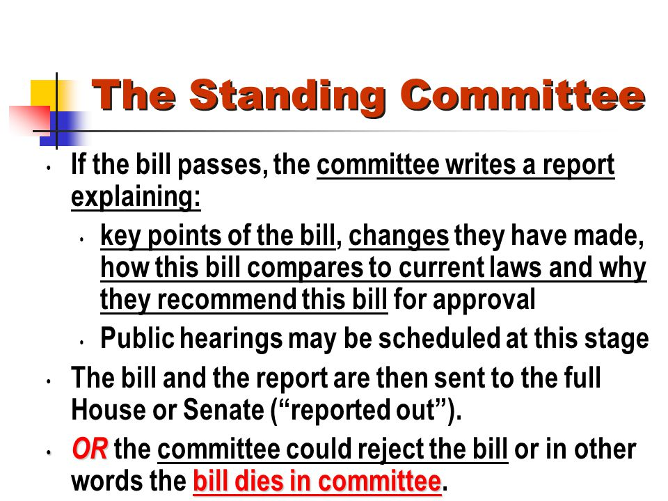 The Standing Committee