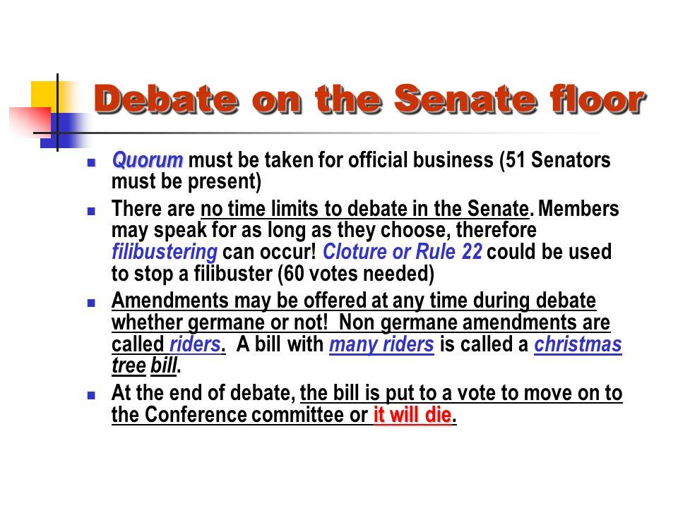 Debate on the Senate floor