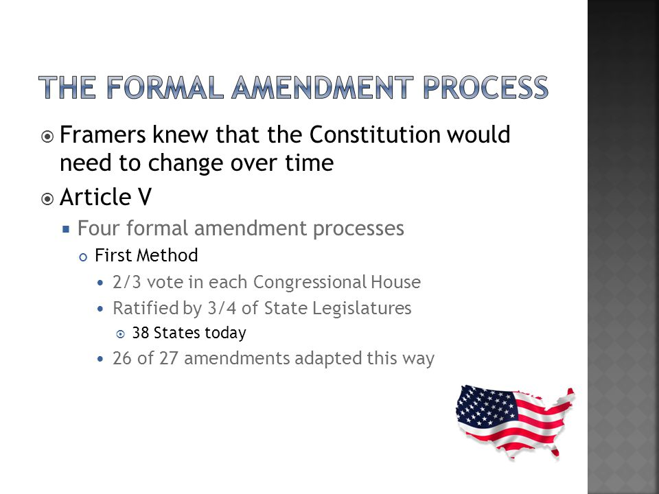 The Formal Amendment Process