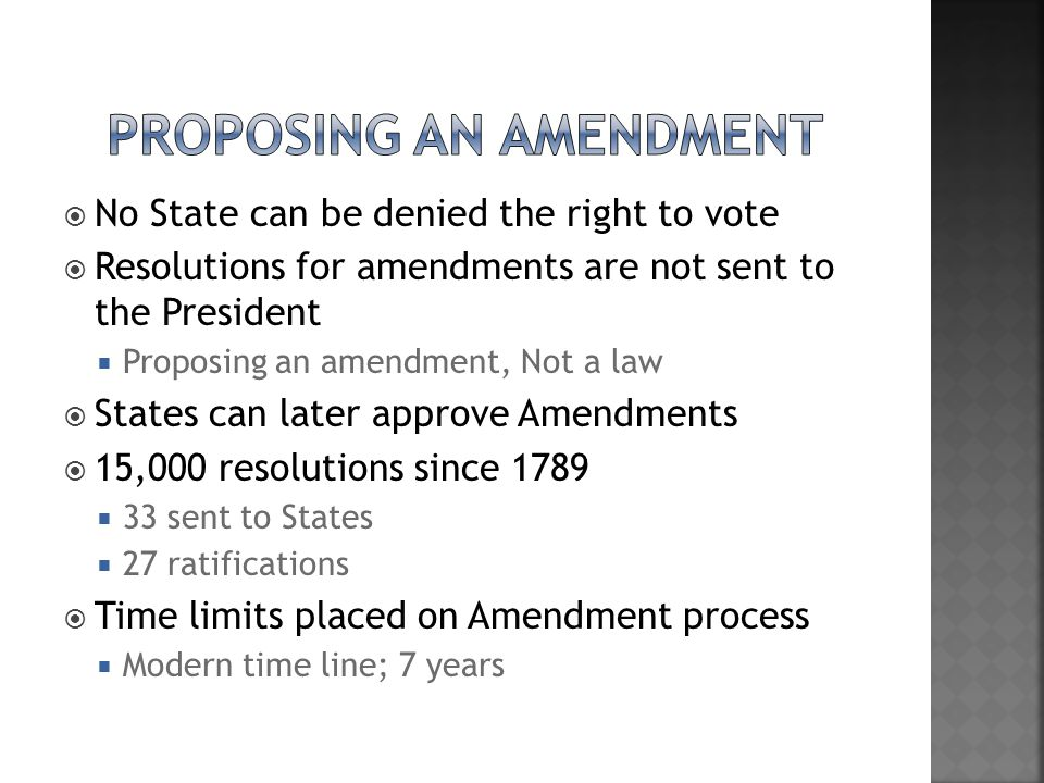 Proposing An Amendment