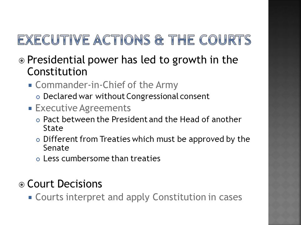 Executive Actions & the Courts