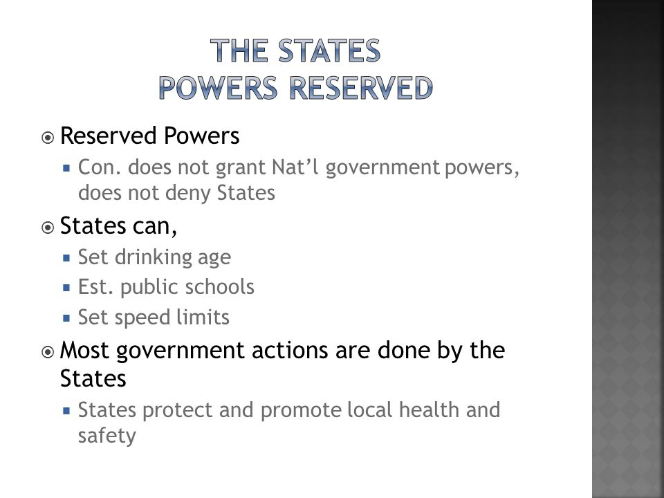 The States Powers Reserved