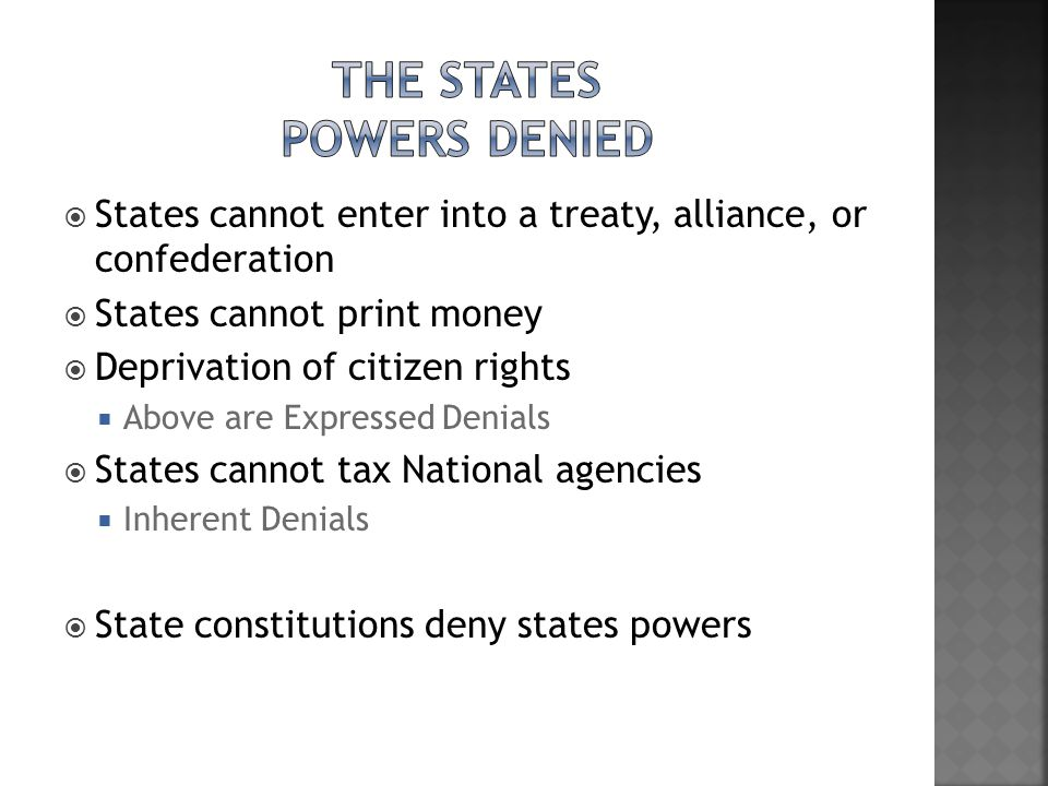 The States Powers Denied