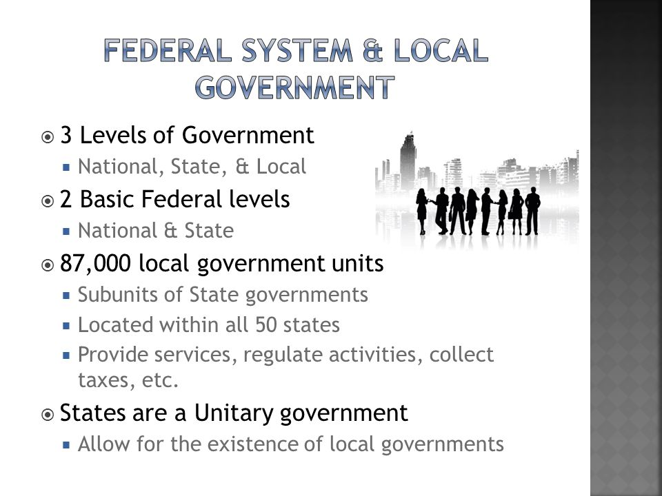 Federal System & Local Government