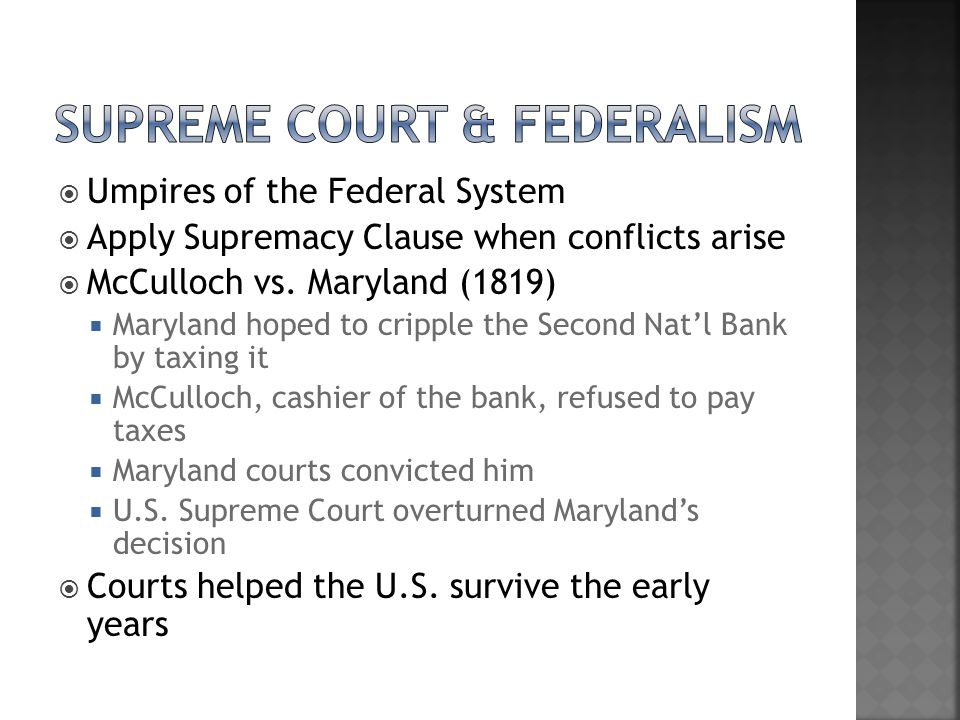 Supreme court & Federalism