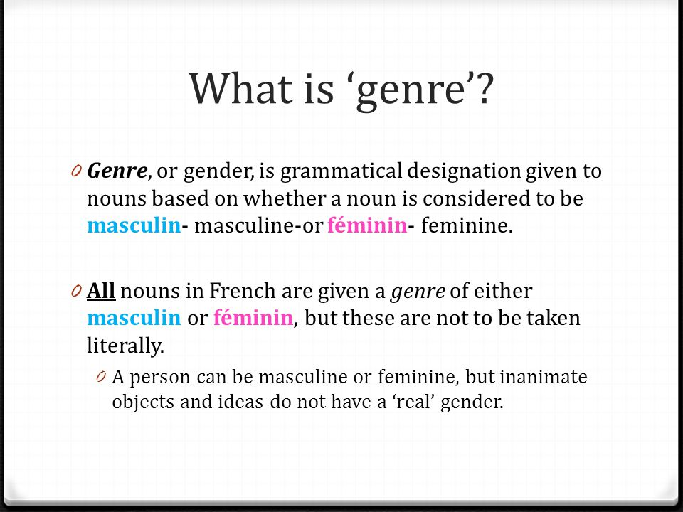 What is 'genre'