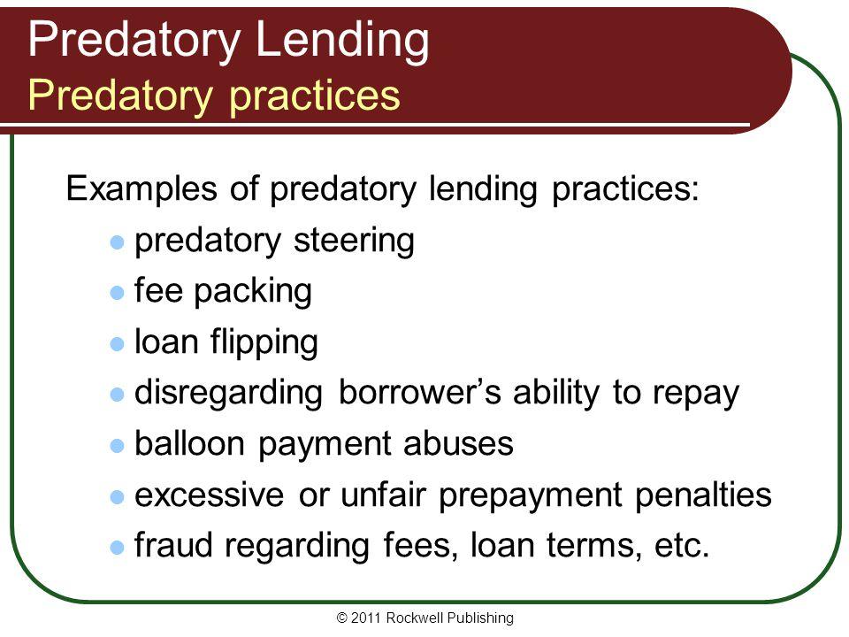Predatory Lending Predatory practices