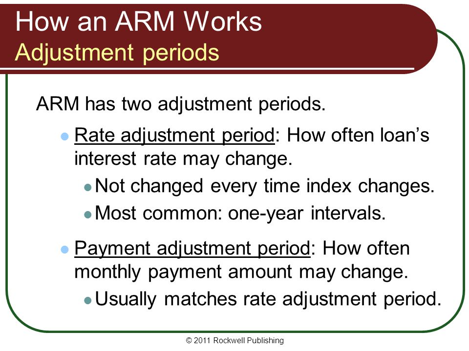 How an ARM Works Adjustment periods