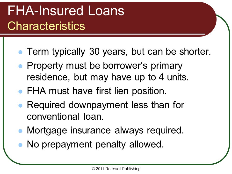 FHA-Insured Loans Characteristics