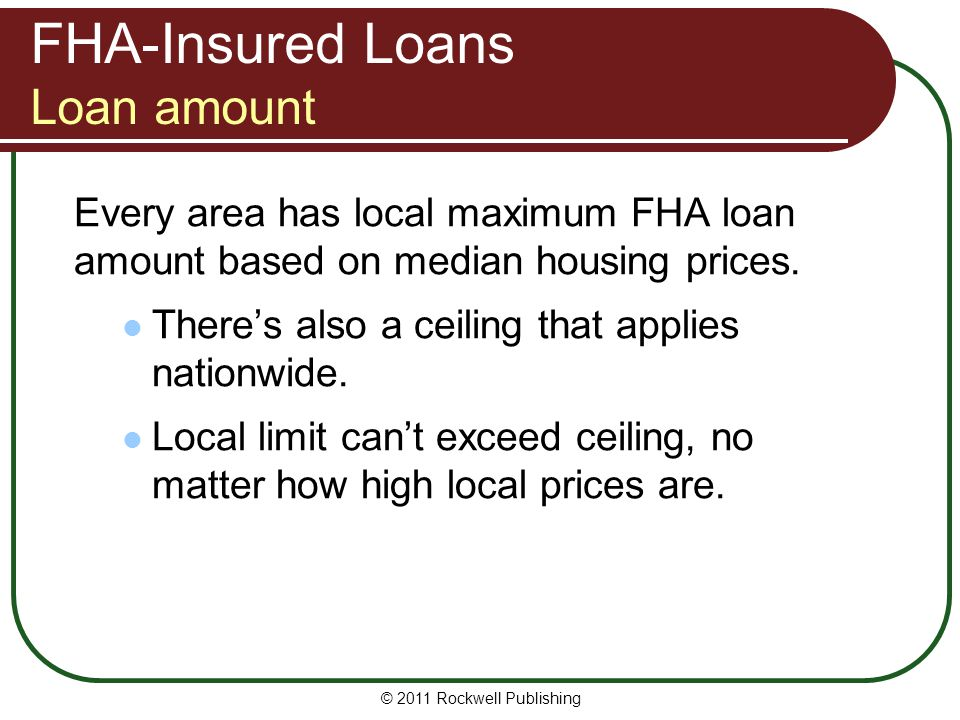FHA-Insured Loans Loan amount
