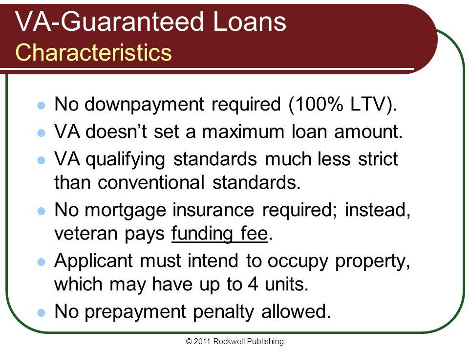 VA-Guaranteed Loans Characteristics