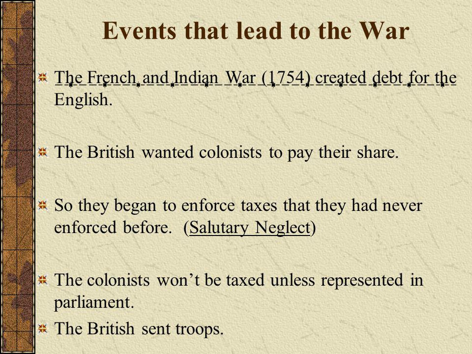 Events that lead to the War