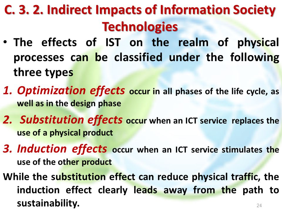 C. 3. 2. Indirect Impacts of Information Society Technologies