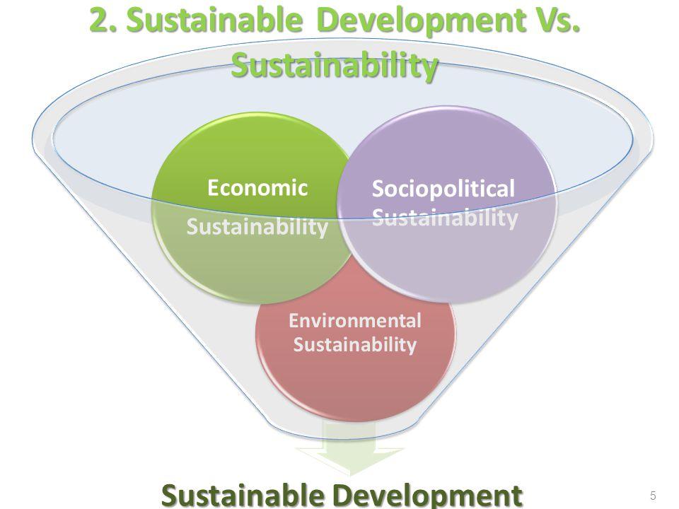 2. Sustainable Development Vs. Sustainability