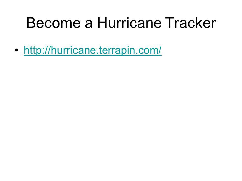 Become a Hurricane Tracker