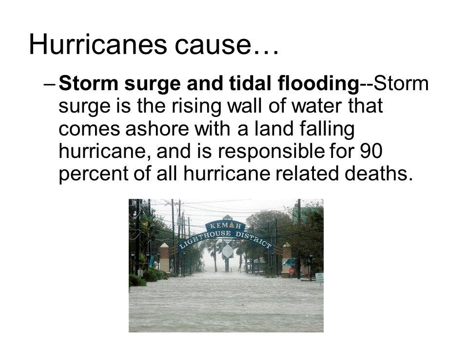 Hurricanes cause…