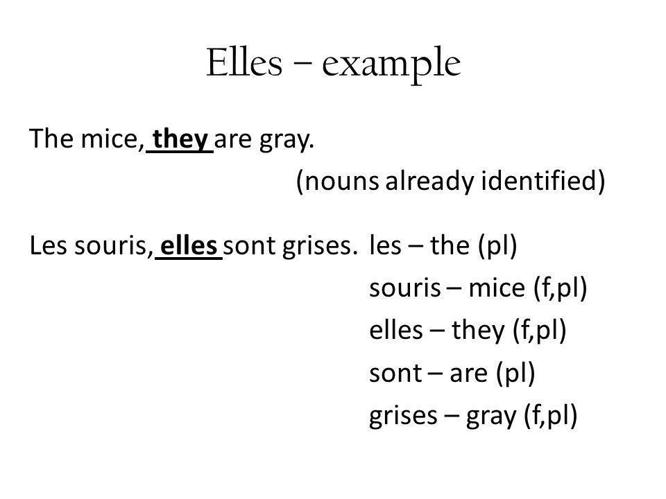 Elles – example