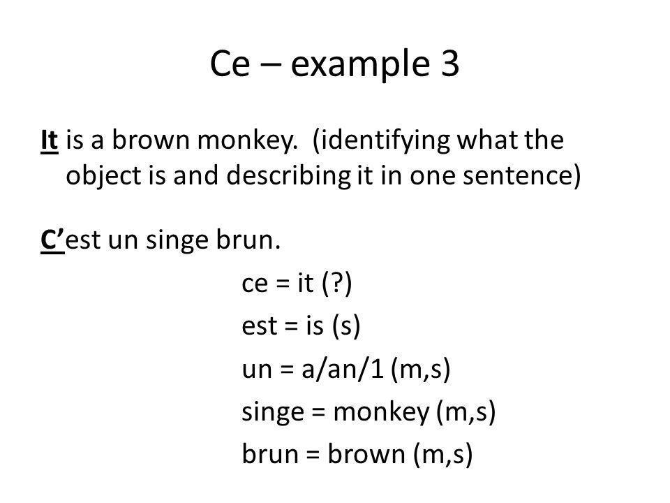 Ce – example 3