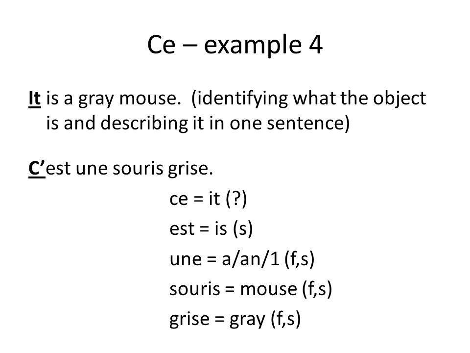 Ce – example 4