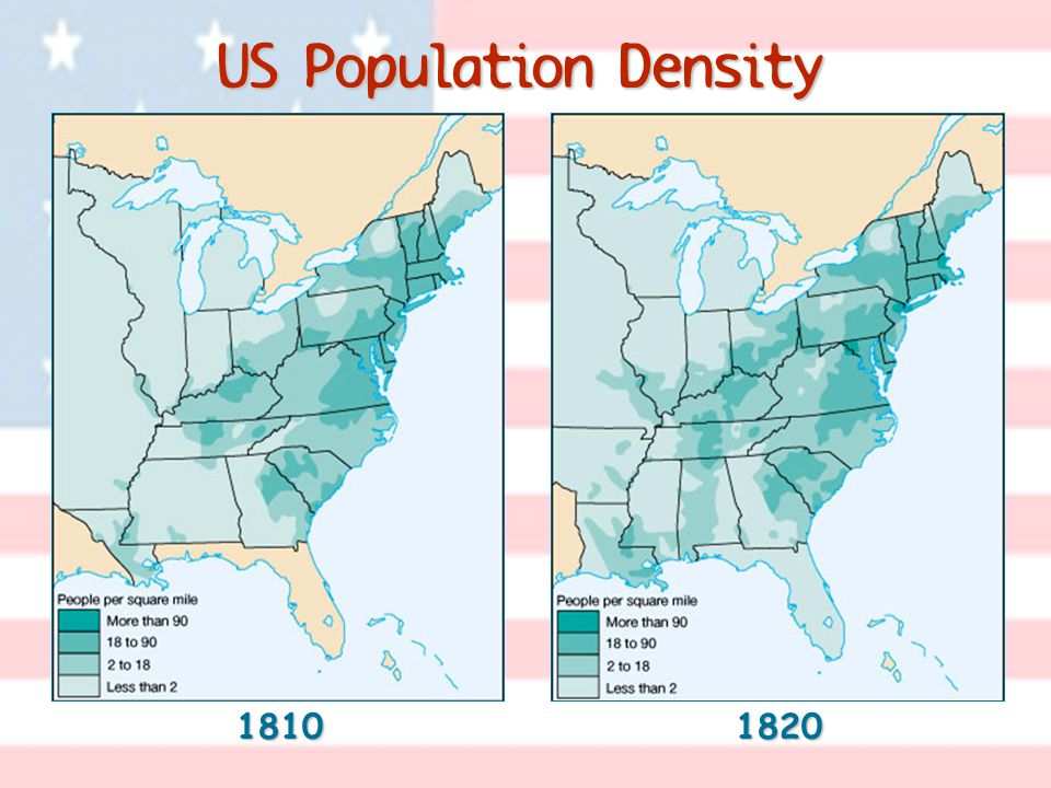 US Population Density 1810 1820