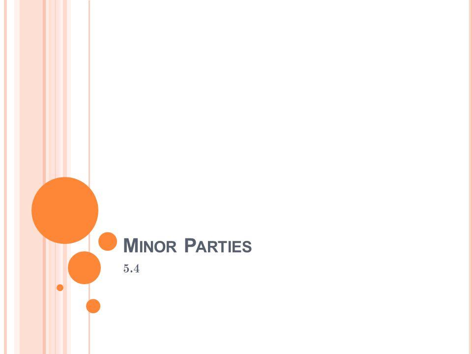 Minor Parties 5.4