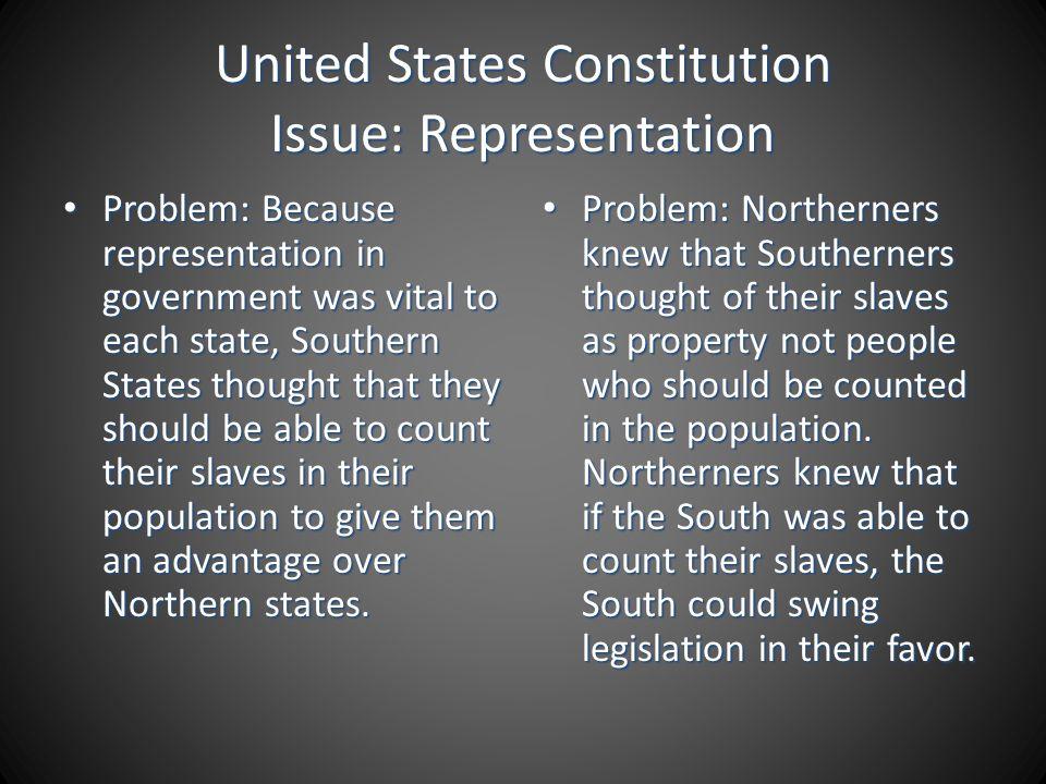 United States Constitution Issue: Representation