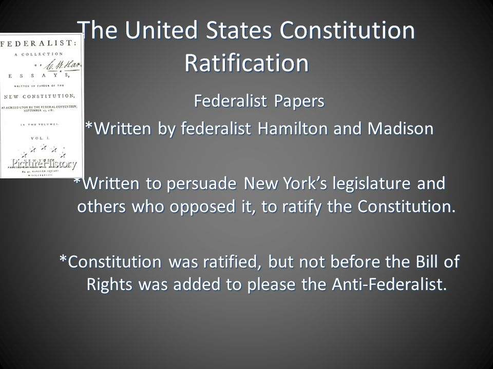 The United States Constitution Ratification