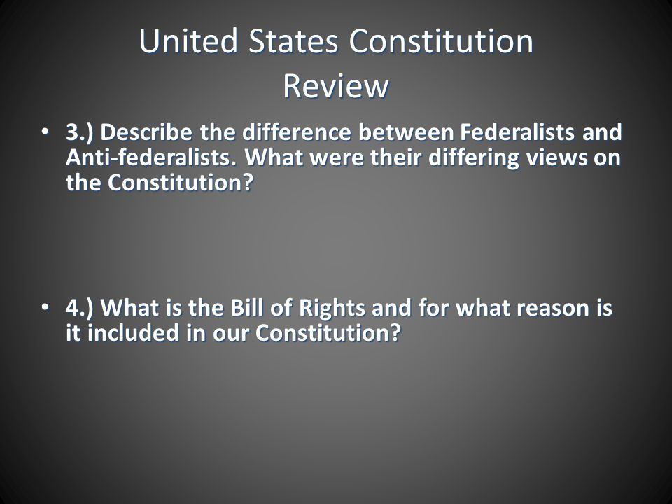 United States Constitution Review