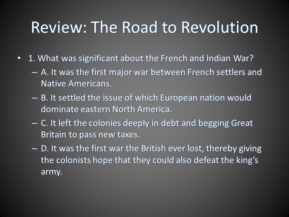 Review: The Road to Revolution