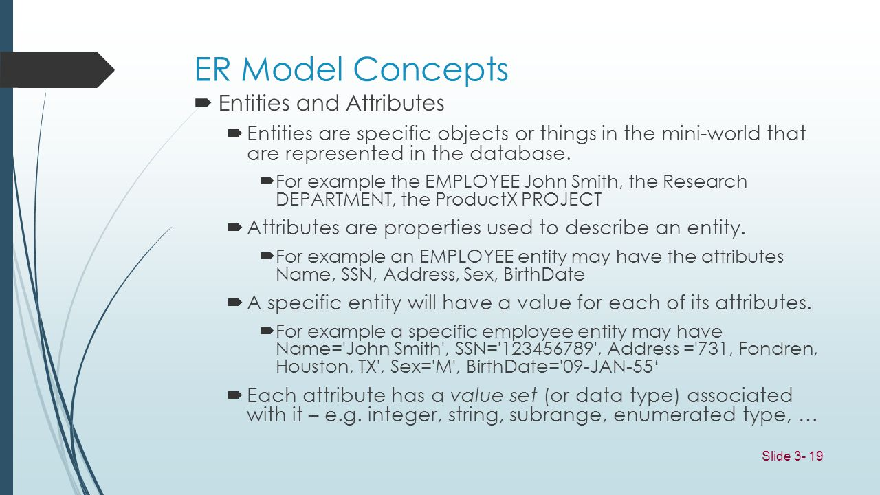 ER Model Concepts Entities and Attributes