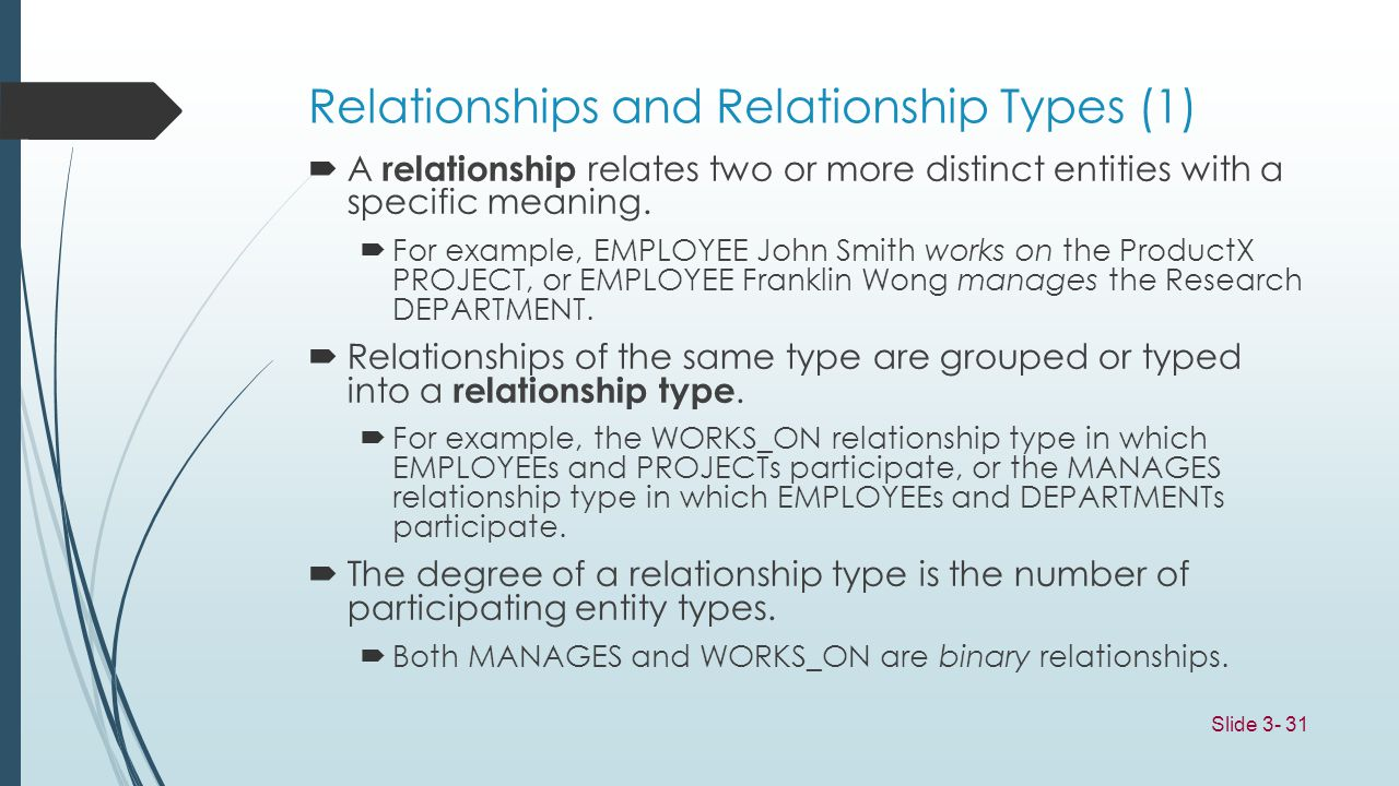 Relationships and Relationship Types (1)