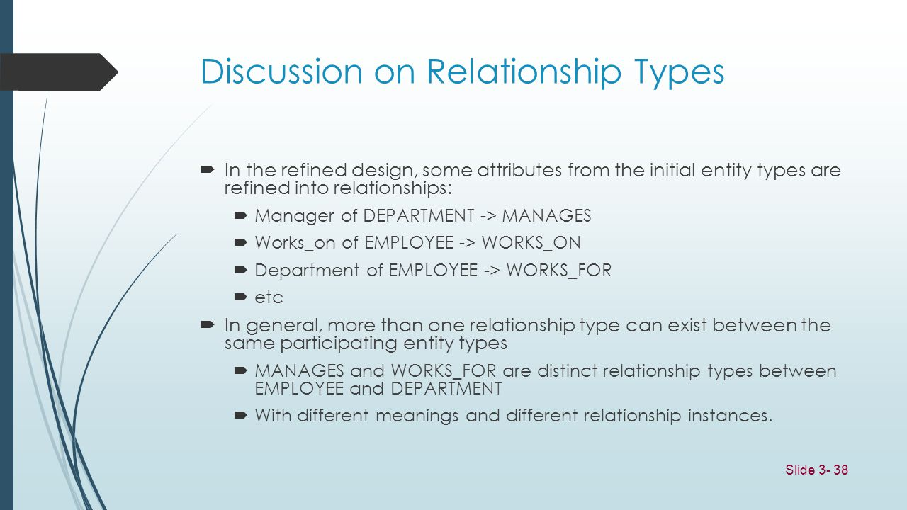 Discussion on Relationship Types