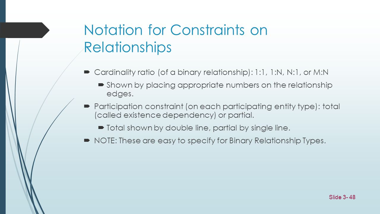 Notation for Constraints on Relationships