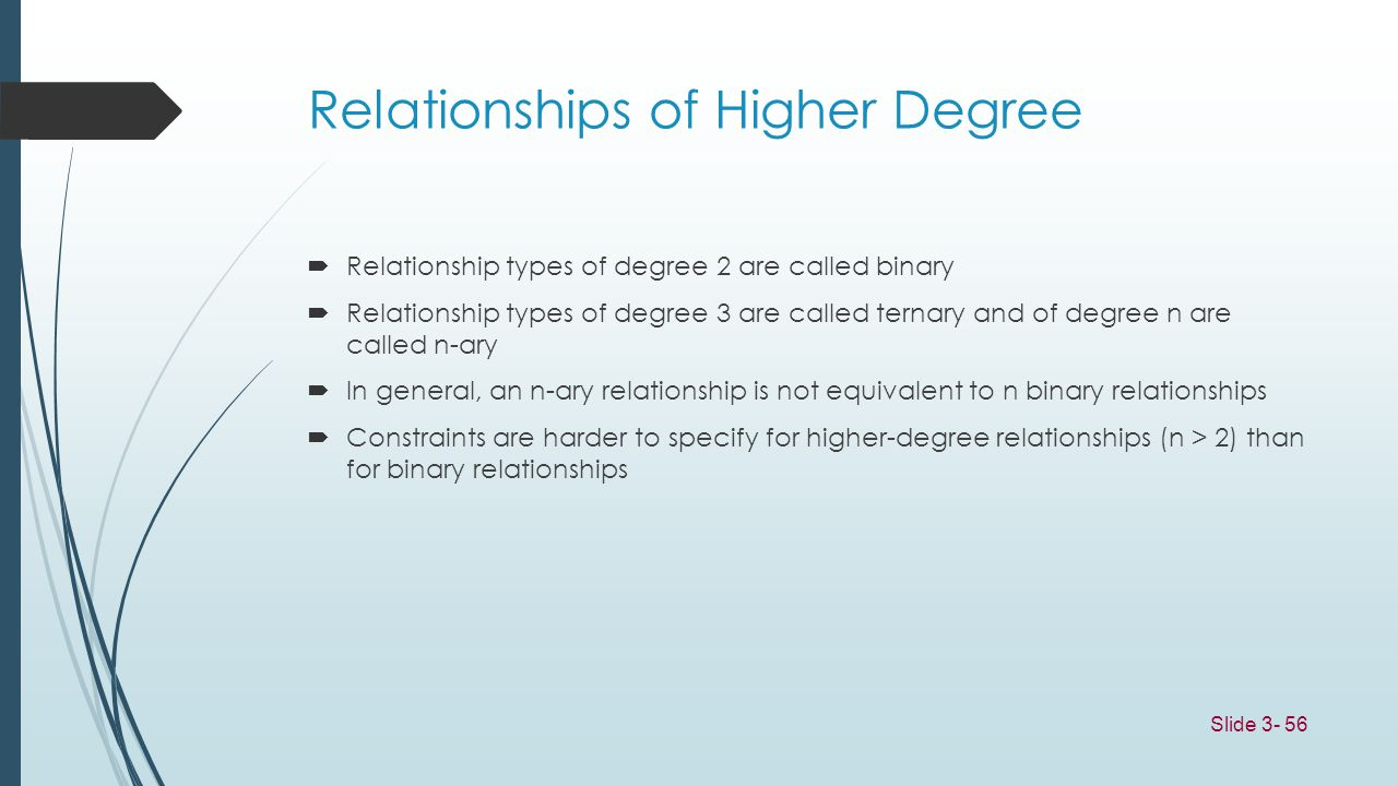 Relationships of Higher Degree