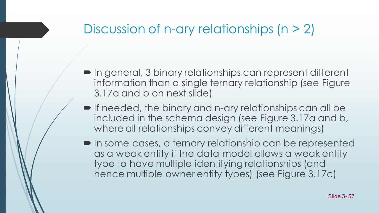 Discussion of n-ary relationships (n > 2)
