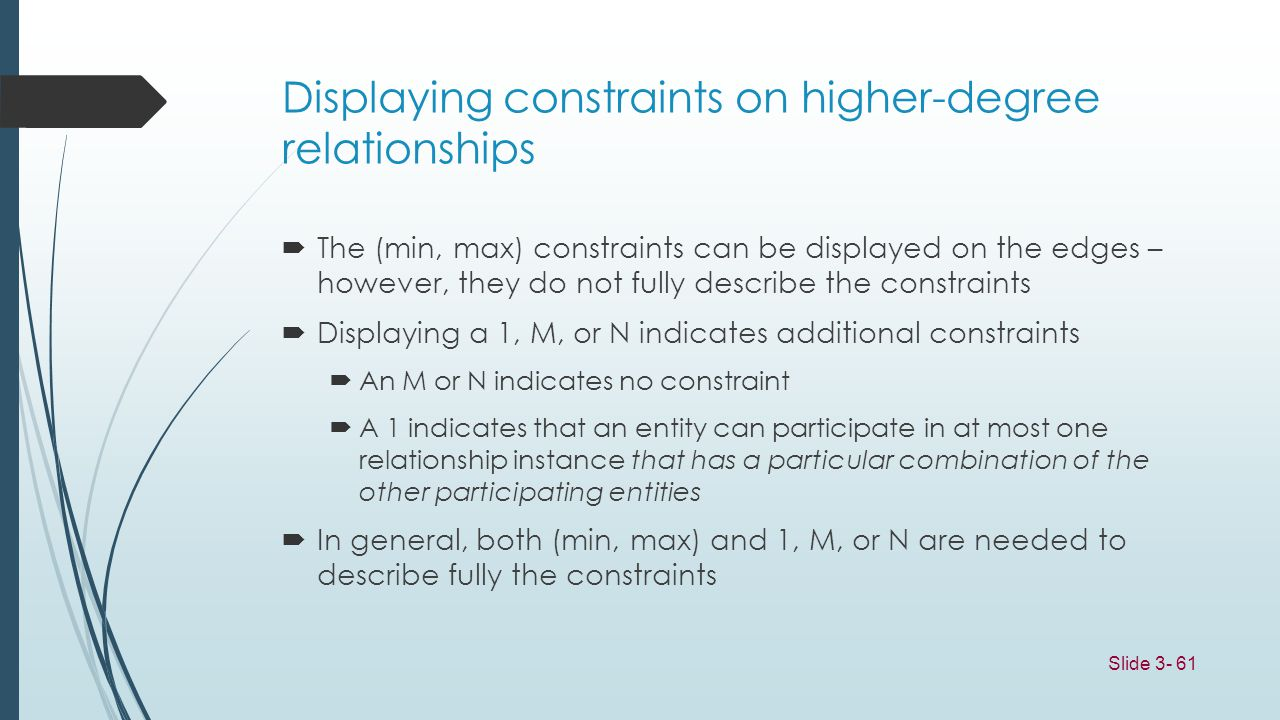 Displaying constraints on higher-degree relationships