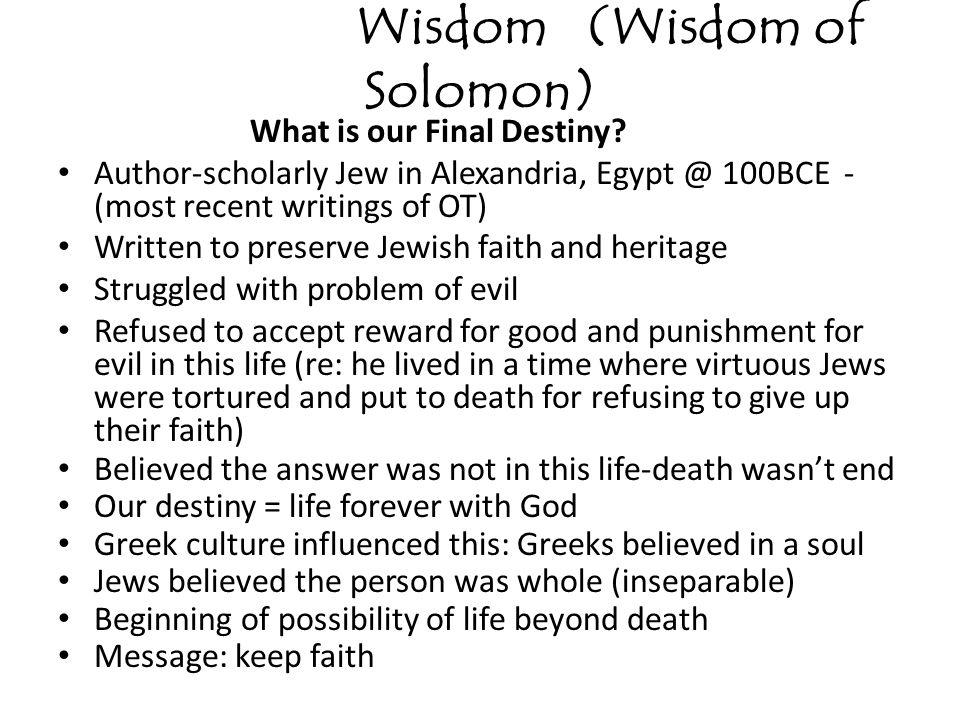 Wisdom (Wisdom of Solomon)
