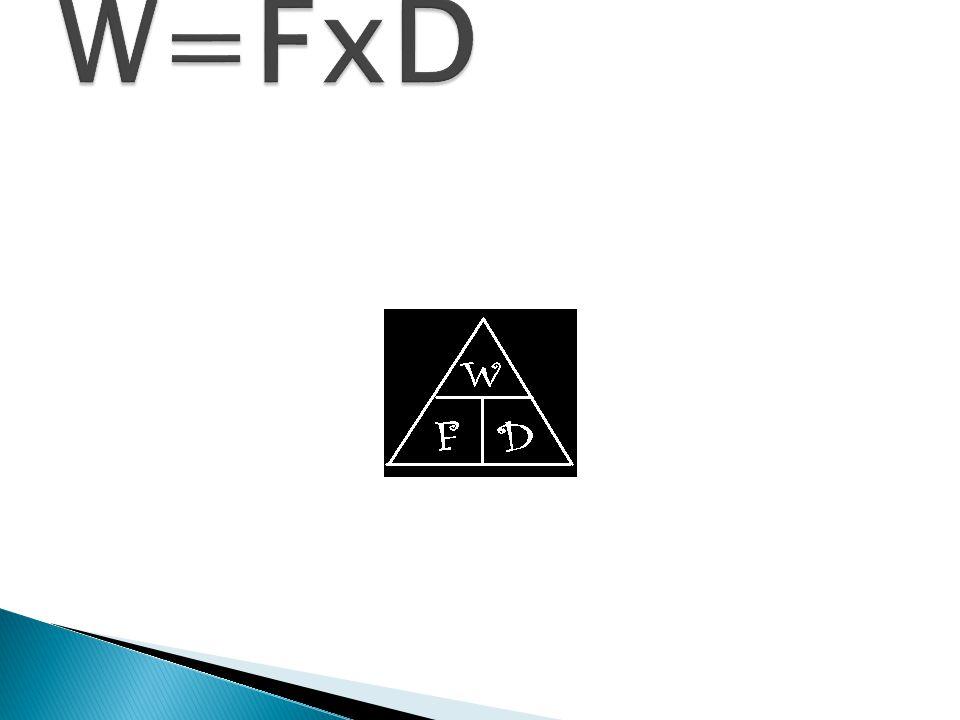 W=FxD