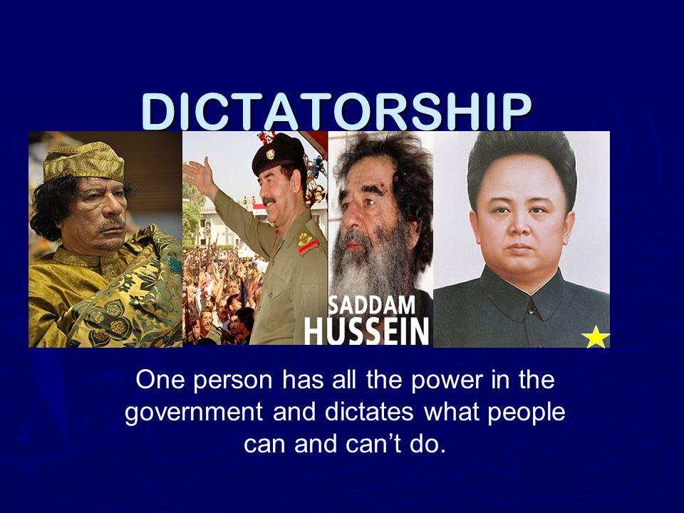 DICTATORSHIP Hitler.