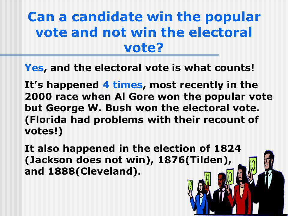 Can a candidate win the popular vote and not win the electoral vote