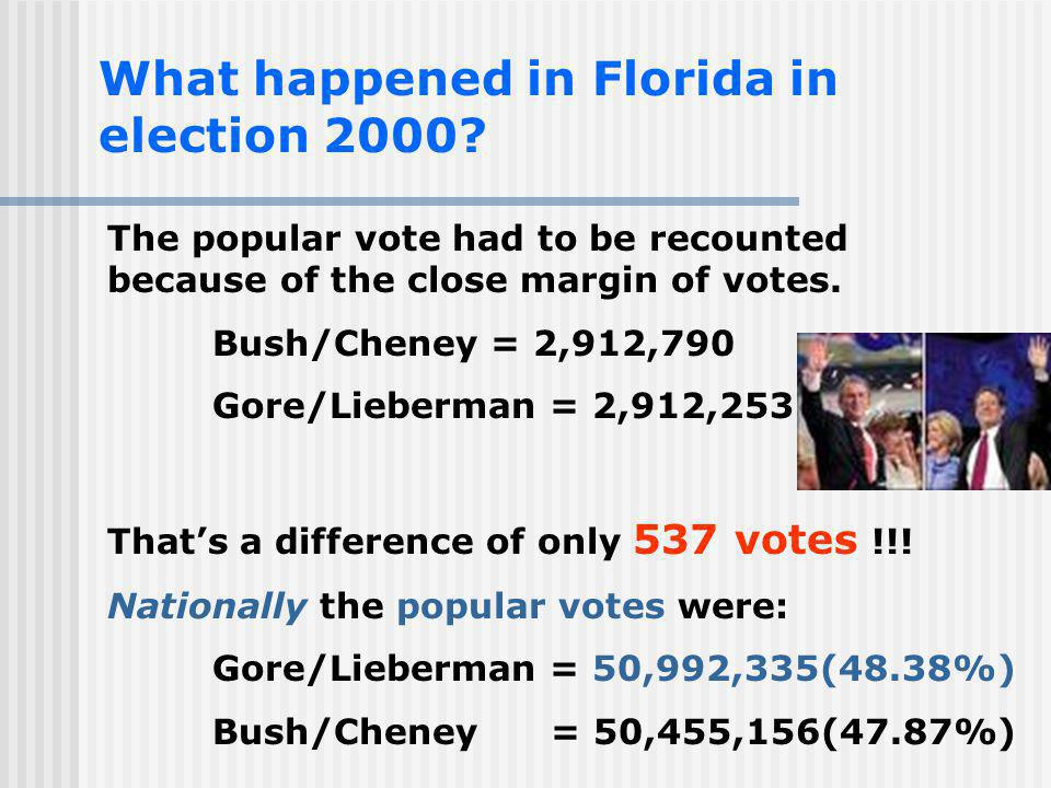 What happened in Florida in election 2000
