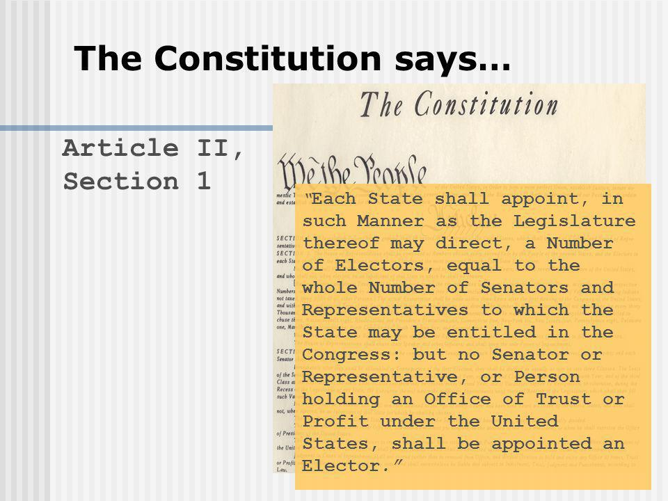 The Constitution says…