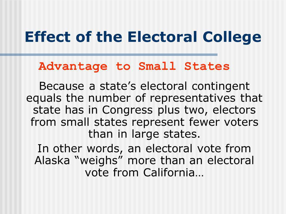 Effect of the Electoral College