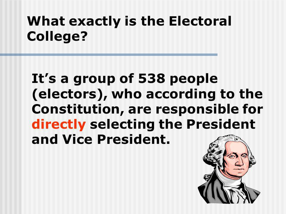 What exactly is the Electoral College