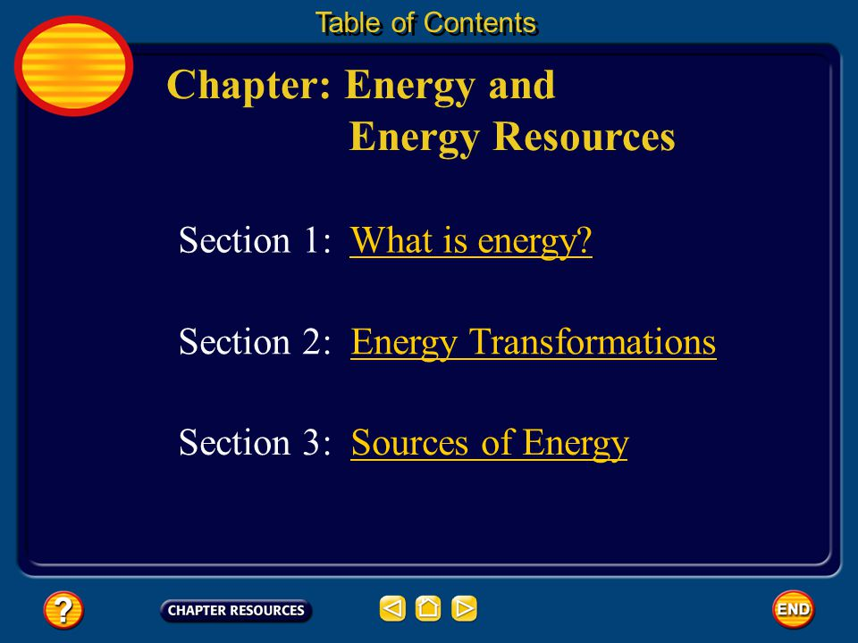 Chapter: Energy and Energy Resources