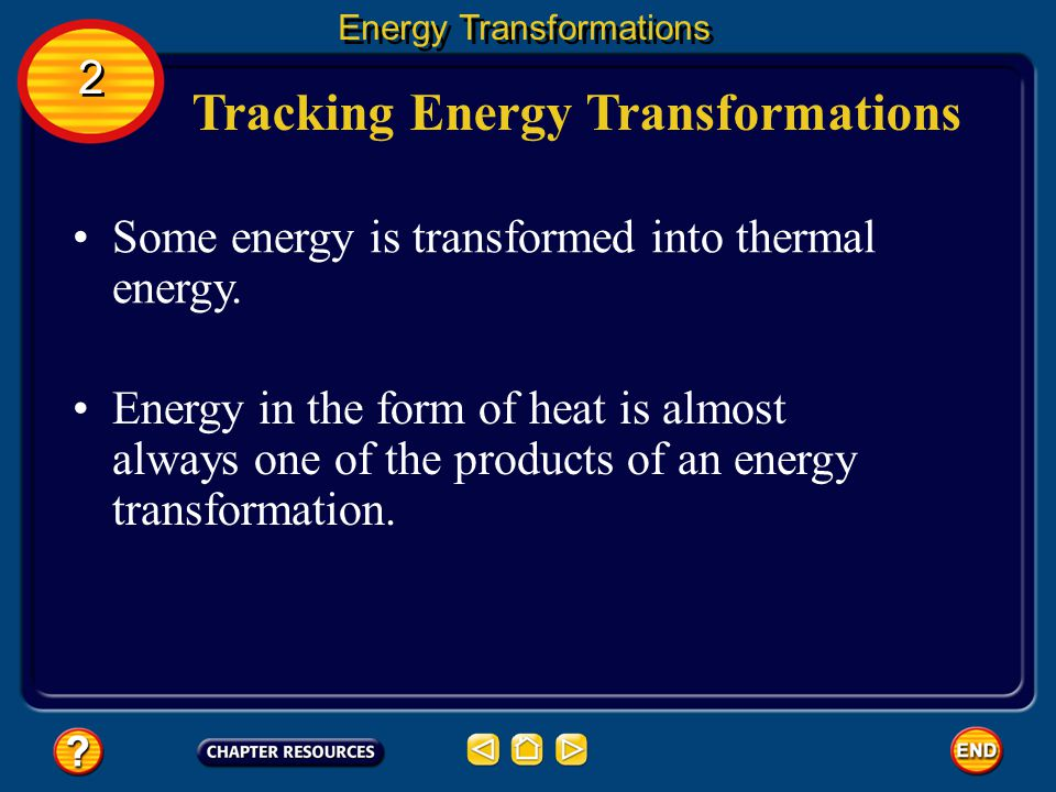 Tracking Energy Transformations