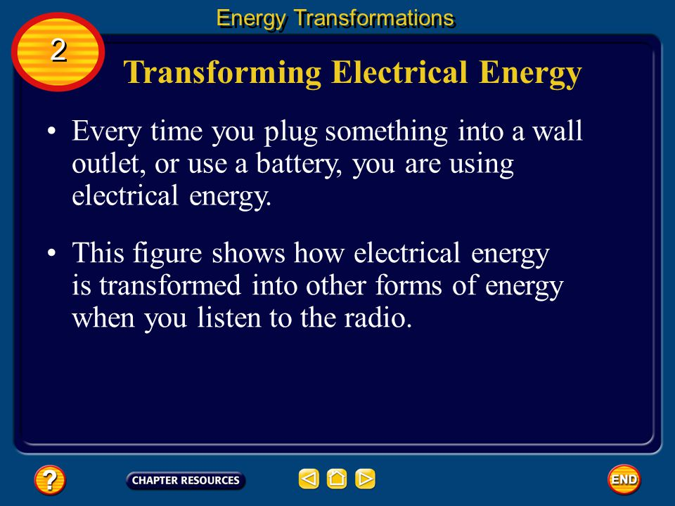 Transforming Electrical Energy
