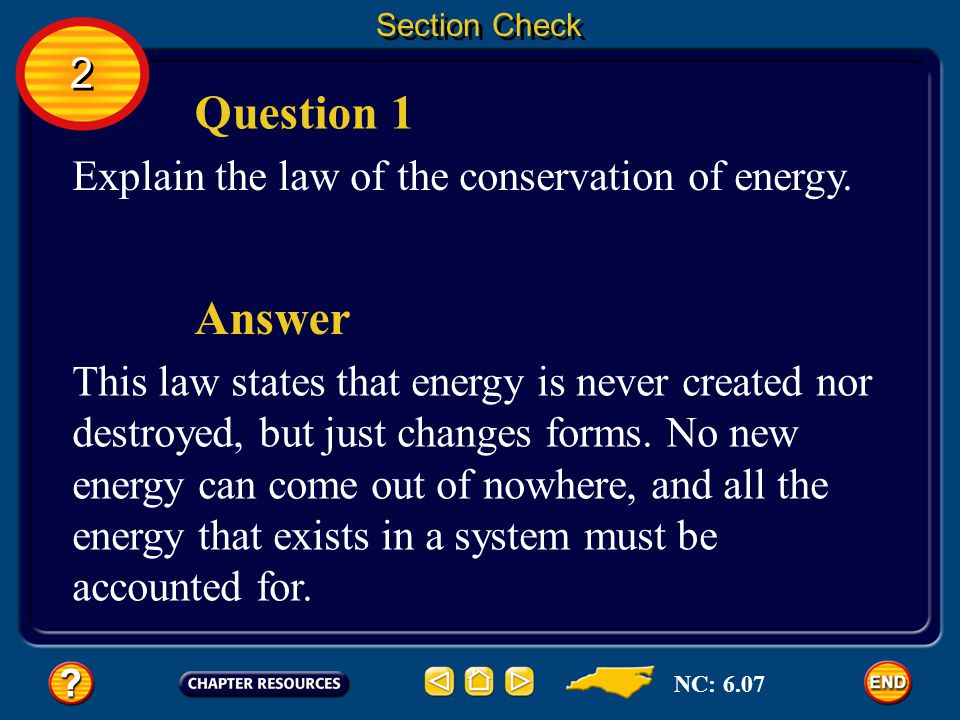 question conservation of energy Using the law of conservation of energy to see how potential energy is converted into kinetic energy  ask a question questions .